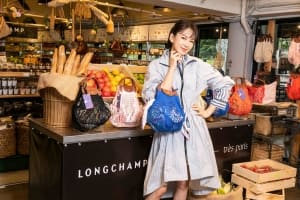 |Wazaiii 時尚郊遊去|去市場買菜也能法式優雅風!學時尚媽咪 Melody 背 Longchamp 新包就「非常巴黎」